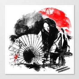 Dark Geisha Canvas Print