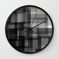 pixel Wall Clocks featuring PIXEL by aurelien vassal
