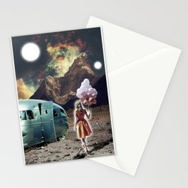 Girl with Balloons Stationery Cards