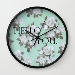 Hello You. Wall Clock