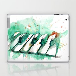 Watercolor Piano (Teal) Laptop & iPad Skin