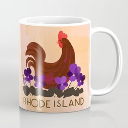 Rhode Island State Bird and Flower Coffee Mug