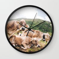 switzerland Wall Clocks featuring From Switzerland with Love by Tomas Hudolin