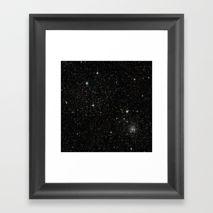 Space - Stars - Starry Night - Black - Universe - Deep Space Gerahmter Kunstdruck