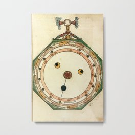 Peter Apian - Astronomicum Caesareum 1540 - Plate 20 Predictions of Eclipses of the Sun and Moon Metal Print