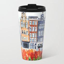 Amsterdam watercolor Travel Mug