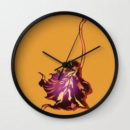 Autumn Sycamore Leaf Wall Clock