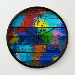 Messy Artist Wall Clock