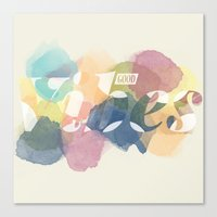 good vibes Canvas Prints featuring GOOD VIBES by Lasse Egholm