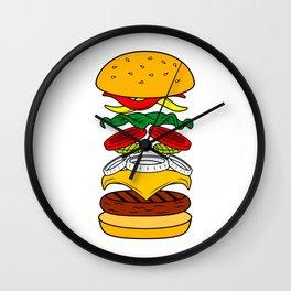 Burger Anatomy Wall Clock