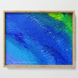 """""""Riptide #4"""" Oil Painting Serving Tray"""