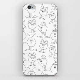 Hex Dudes and Gals iPhone Skin