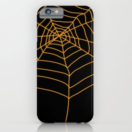 Spider Web - Halloween Orange and black iPhone Case