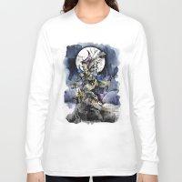nightmare before christmas Long Sleeve T-shirts featuring The nightmare before christmas by Sandra Ink