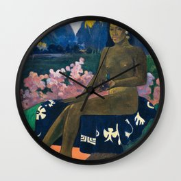 The Seed of the Areoi by Paul Gauguin Wall Clock