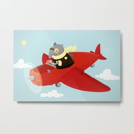 Flying Tapir Metal Print