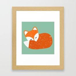 Cute sleeping fox   Framed Art Print
