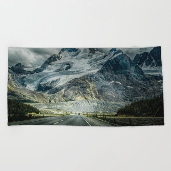 fantasy road Beach Towel