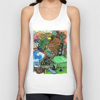 west coast Tank Tops featuring west coast. by Late Bloomer