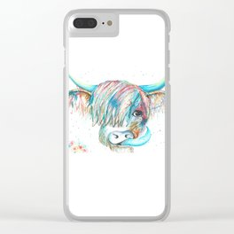 Highland Cattle full of colour Clear iPhone Case