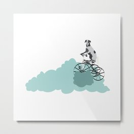 Dog on the katy cloud trail. Joy in the clouds collection Metal Print