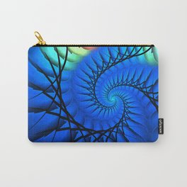 Motion in Blue Carry-All Pouch
