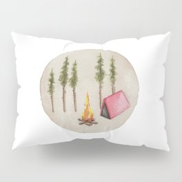 Campfire, Outdoorsy, Camping, Pine Trees, Camp Fire Pillow Sham