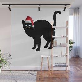 Christmas cat tshirt  Wall Mural