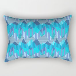 ZigZag All Day - Blue Rectangular Pillow