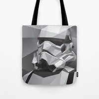 stormtrooper Tote Bags featuring Stormtrooper by Filip Peraić