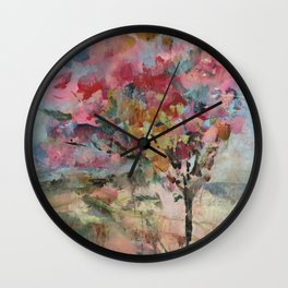 Blushing Tree Wall Clock