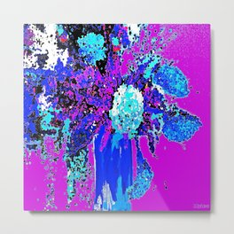 Callas and Orchids Abstract Floral 2 Metal Print