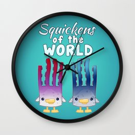 Squickens of the World Wall Clock