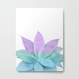 Mermaid Agave on White #1 #tropical #decor #art #society6 Metal Print