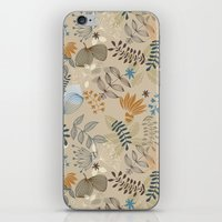 floral pattern iPhone & iPod Skins featuring Floral pattern by De Assuncao création