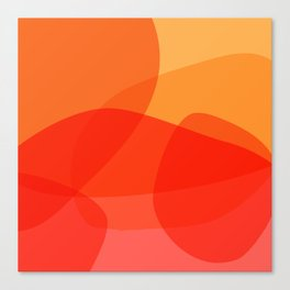 Abstract Organic Shapes in Red Canvas Print