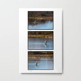 Gone Fishing Triptych White Metal Print