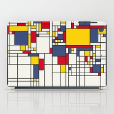 World Map Abstract Mondrian Style iPad Case