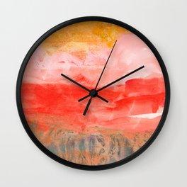 coral horizon Wall Clock