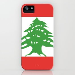 Lebanon flag emblem iPhone Case