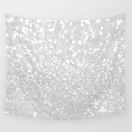 Chic elegant glamour White Faux Glitter  Wall Tapestry