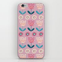 tulips iPhone & iPod Skins featuring Tulips by Valendji