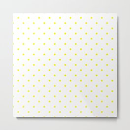Small Yellow Polka Dots Metal Print