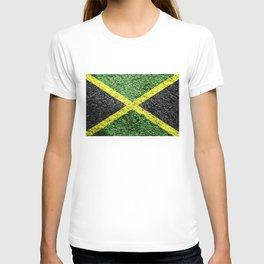 Jamaica Flag Distressed T-shirt