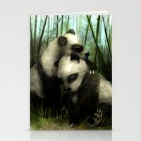 pandas Stationery Cards featuring Pandas by Gilthonniel's Shop