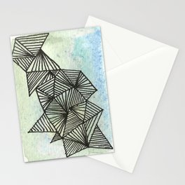Geometrical Watercolour 1 Stationery Cards
