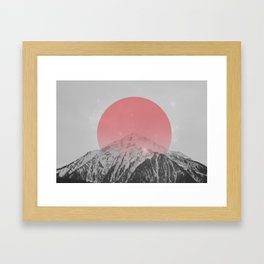 Dreaming of Pink Mountains Framed Art Print