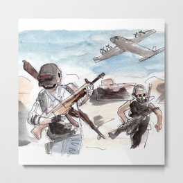 PUBG War Zone Metal Print