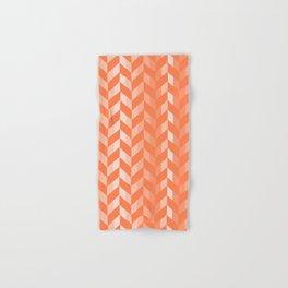 Living Coral Chevron Pattern Hand & Bath Towel