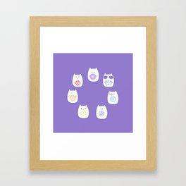 Chakra cats Framed Art Print